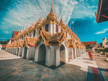 Loha Prasat Temple In Bangkok Old Town In Thailand