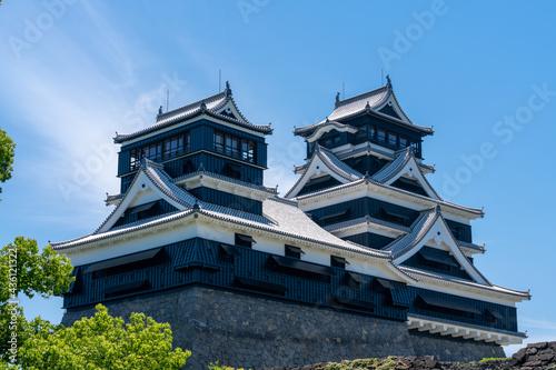 復旧中の熊本城_熊本県熊本市 Fotobehang