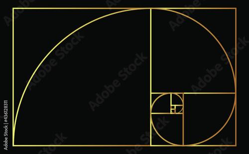 Foto Golden Ratio Vector Design Template