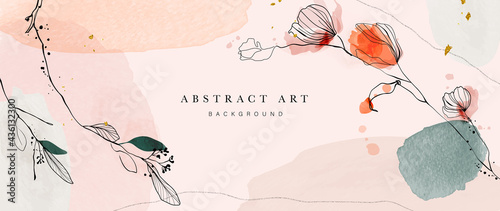 Canvas Print Abstract art background vector