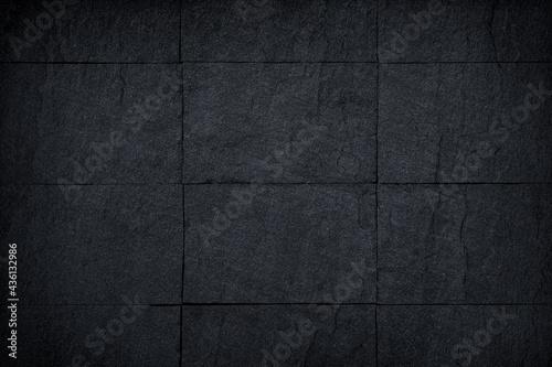 Obraz na plátně Dark slate stone wall or black stone texture abstract for  background
