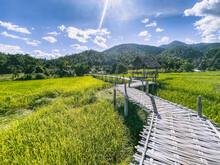 Bamboo Bridge In Pai, Mae Hong Son, Chiang Mai, Thailand