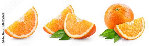 Canvastavla Orange slice isolate