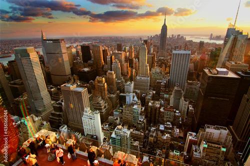 Canvastavla New York  Sunset - From Rockefeller Center