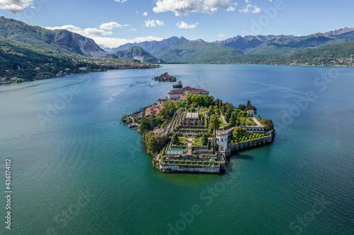 panorama lago maggiore, isola bella, isole borromee Fototapeta