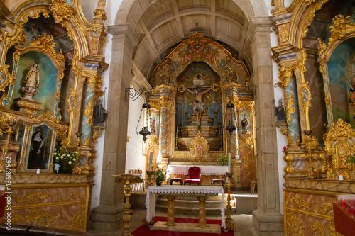 Fotografiet Interior of the Chapel of Bom Jesus, Valença, Portugal