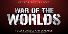 War Of The Worlds Text Effect; Editable Warrior And Knight Text Style.