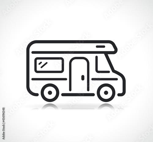 Obraz na plátne camping car or campervan icon