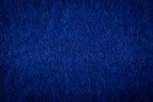 Coarse Deep Blue Wool Background Texture