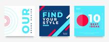 Minimal Style Social Media Post Template Set