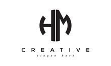 Letters HM Creative Circle Logo Design Vector