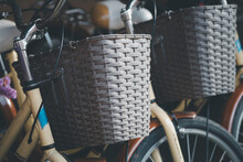 Traditional Wicker Bicycle Front Basket