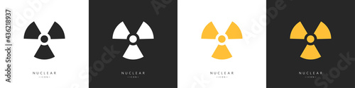 Stampa su Tela Set of nuclear icons