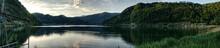 Morning Panorama On Lake Lugano As Seen From Lavena Ponte Tresa, Hdr Image