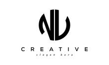 Letters NV Creative Circle Logo Design Vector