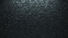 Polished, Concrete Wall Background With Tiles. 3D, Tile Wallpaper With Futuristic, Diamond Shaped Blocks. 3D Render