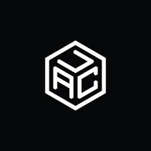 ACU Letter Logo On Black Background.
