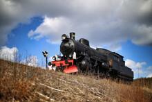 Old Swedish Steam Engine In Western-like Setting