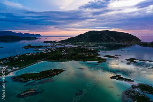 Fotografering Sommaroy island summer dusk 01