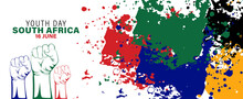 Vector Illustration Of  Youth Day South Africa 16 June Celebration. Logo Youth Day South Africa. EPS10