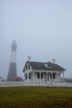 Tybee Island Lighthouse In The Fog