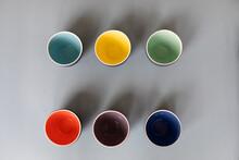 Set Of Empty Cups