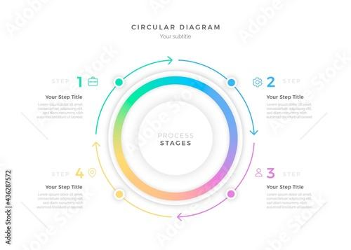 Fotografiet Gradient Circular Diagram Infographic_9