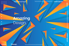 Abstract Geometric Vector Background. Geometric Background With White And Blue Colors.