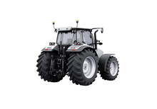 3d Rendering Gray Tractor Isolated On White Background No Shadow