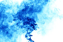 Blue Smoke On A White Background.