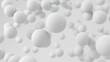 3d render abstract background with white spheres