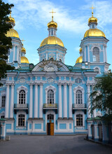 St. Nicholas Cathedral In St. Petersburg, Russia