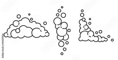 Valokuva Soap foam cloud with bubbles