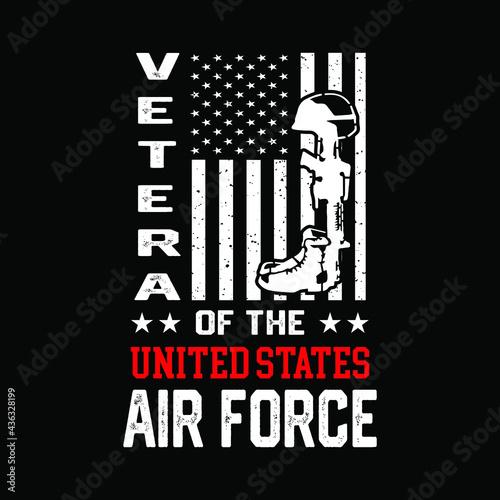 Photo Veteran shirt. American brave soldier illustration vector