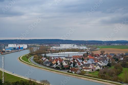 Fototapeta city view in bavaria fürth ss observation deck. Nuremberg