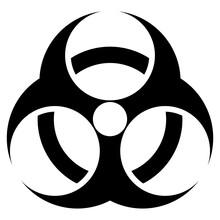 Radiation Warning Symbol Sign Isolate On White Background