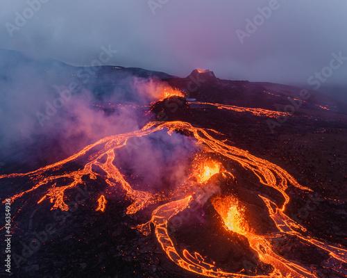 Geldingadalur volcanic eruption in Iceland 2021 Fototapet