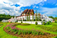 The Royal Pavilion (Ho Kham Luang) In Royal Park Rajapruek In Chiangmai, Thailand. Selective Focus