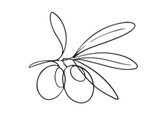 One Line Drawing Olives