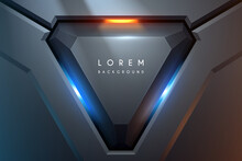 Technology Geometric Background With Light Effect