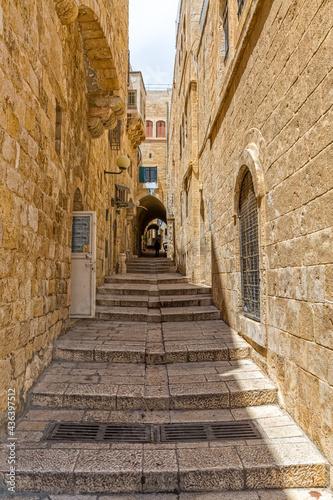 Jerusalem stairway street Fototapet