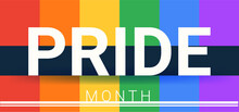 Colorful Lgbt Pride Month For Festival Parades And The Internet.