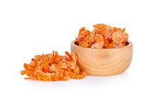 Dry Shrimp Isolated On White Background
