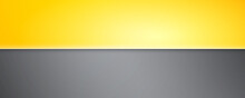 Two-color Background. Background Divided Into Yellow And Gray Parts. Vector 3d Illustration