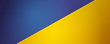 Blue-Yellow Background. Vector 3d Illustration. Background Divided Into Two Colors By Diagonal.
