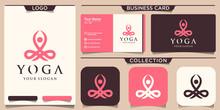 Yoga Logo Template Business Card Design