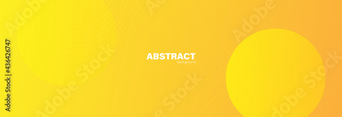 Abstract yellow background with fluid shapes modern concept Fotobehang