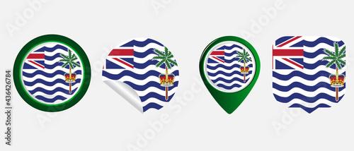Fotografiet british indian ocean territory flag
