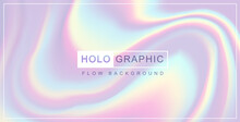 Modern Holographic Pearl Fllow Abstract Background. Liquid Vector Illustration
