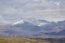 A Winter View Of Mount Snowdon In Gwynedd, Wales, UK.